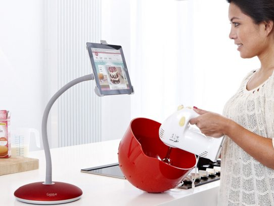 Flexible, hands free iPad and tablet stand